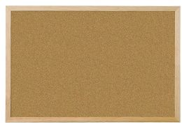 ***IN-STORE ONLY*** Q-Connect Wooden Frame 400 x 600 mm Cork Board